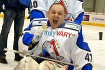 Bohumír ´Shrek´ Mach, gólman SKV Sharks Karlovy Vary