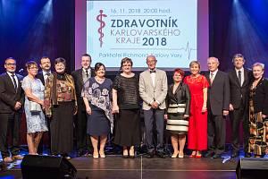 Slavnostní vyhlášení výsledků ankety Zdravotník kraje.