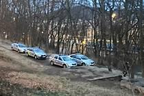 Policejní zásah v neděli večer.