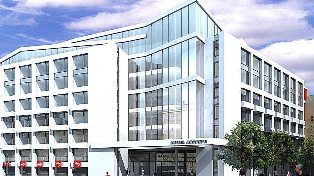 Vleklé soudní spory nebrzdí jen samotnou opravu Národního domu, ale i jeho přestavbu v moderní hotel (návrh viz. foto). Ten už měl být letos postaven.