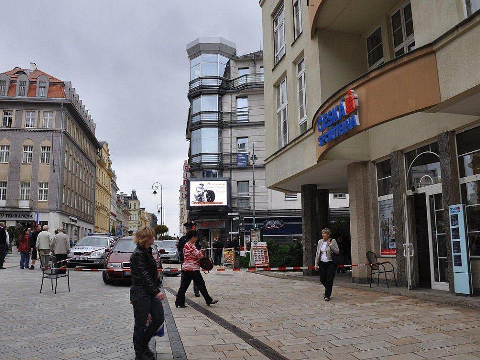 Na třídě T.G.Masaryka v Karlových Varech došlo v pondělí 19. září k loupežnému přepadení