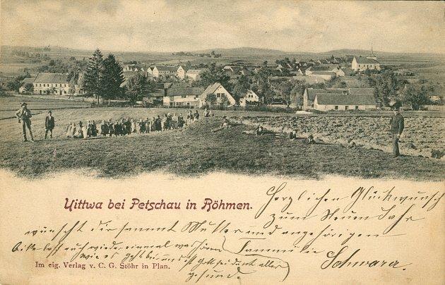 Historický pohled na Útvinu kolem roku cca 1915.