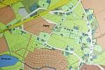 Zamýšlená výstavba obřích hal v obci Hory