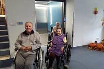 NOVÝ VÝTAH slouží obyvatelům domova důchodců.