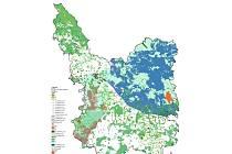 Výkres hodnot území ORP Karlovy Vary.