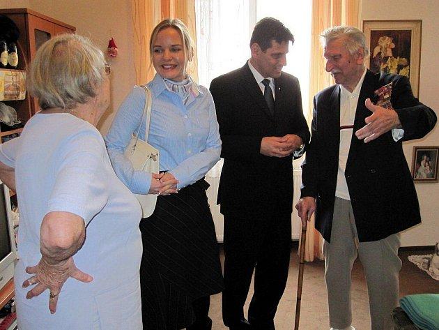 Kateřina Klasnová navštívila veterány