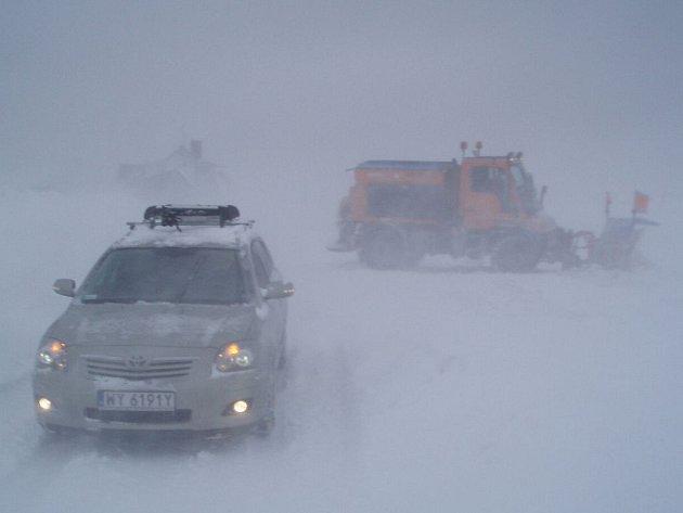 Sněhová kalamita na Božím Daru.