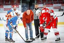 Exhibiční charitativní zápas Olympu Praha proti Akademii KV Arény mohli diváci sledovat v sobotu v karlovarské Realistic Areně.