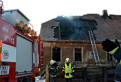 Požár domu ve Smilově