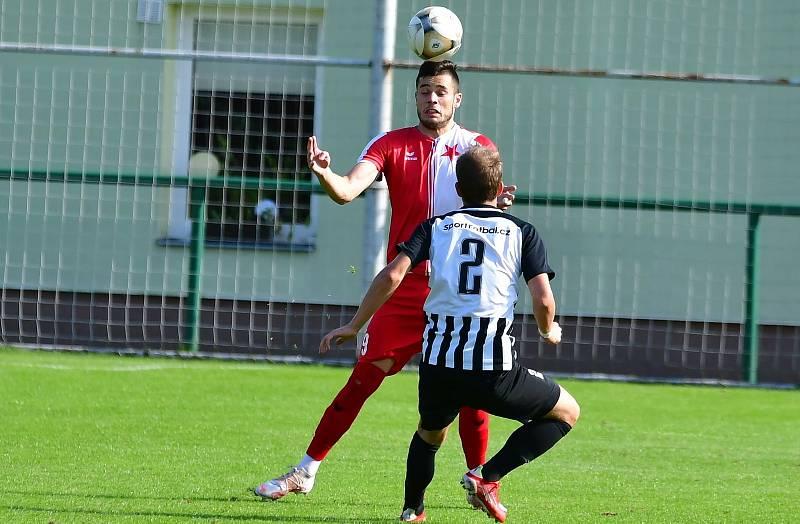 Fotbalisté karlovarské Slavie o víkendu remizovali s Admirou Praha 0:0.