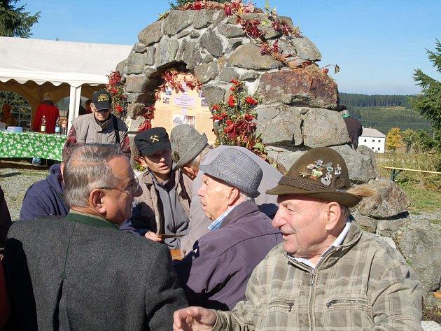 Svatováclavské česko-německé setkání u bývalé osady Ryžovna v Krušných horách.
