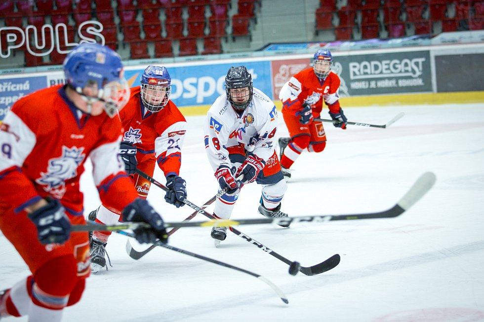 Česká hokejová reprezentace do 16 let hostila v Karlových Varech o rok starší výběr německého Mannheimu