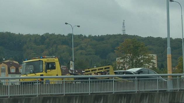 Nehoda, ke které došlo v pátek 9. září v Karlových Varech
