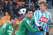 V 17. kole druhé fotbalové ligy změřili síly hráči Baníku Sokolov a Zenitu Čáslav.