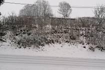 Bohatá sněhová nadílka potěšila obyvatele Lubů u Chebu.