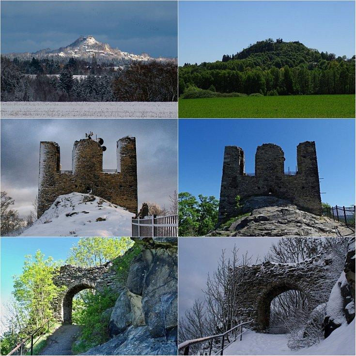 Zřícenina Andělská hora na fotografii čtenáře Deníku.