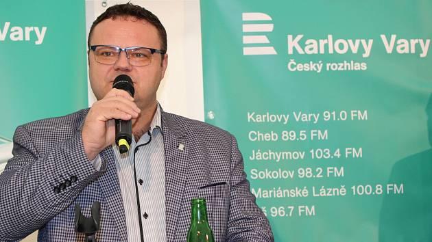 Ze slavnostního zahájení vysílání stanice Český rozhlas Karlovy Vary.