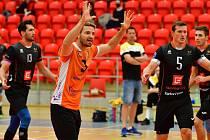 Karlovarsko si připsalo na své konto v rámci Velké ceny porcelánu v hale míčových sportů první vítězství, když porazilo 2:1 na sety SK Volejbal Ústí nad Labem.