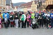 Tradiční novoroční běh kolem Lokte.