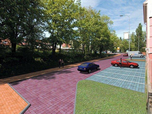 Vizualizace budoucí podoby ulice Závodu míru v Karlových Varech