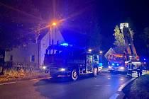 Požár rodinného domu v Kojšovicích u Toužimi, 11. 10. 2021