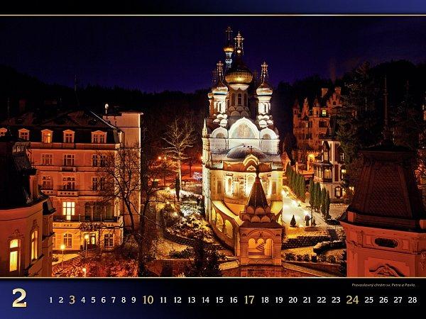 Karlovy Vary vnoci.