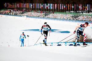 Ondřej Černý, běžec na lyžích LK Slovan Karlovy Vary, si připsal ve sprintu ve slovinské Pokljuce 11. místo.