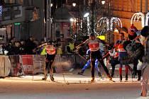 Karlovarský Ski Sprint 2009 vyhráli čeští běžci na lyžích Aleš Razým a Petr Novák