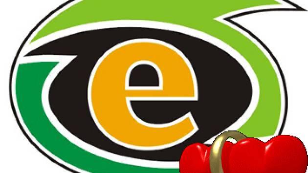 Valentýnské logo HC Energie.