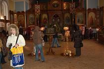 V Ruském kostele se slaví pravoslavné Vánoce.