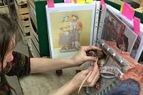 Modelace nedochovaných částí figurální výzdoby. Foto: archiv Sylvy Antony Čekalové