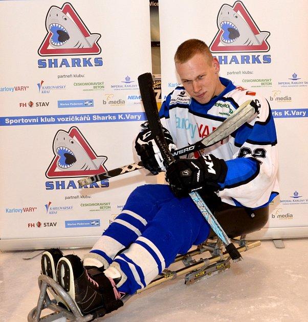 Jiří Forgo, útočník SKV Sharks Karlovy Vary.