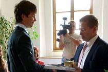 Předání cen se ujal starosta Pavel Čekan