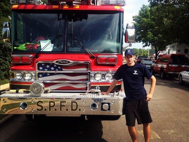 """""""Podpora záchranářů v USA je neuvěřitelná, až jsem nevěřil. Patriotismus je cítit všude,"""" uvedl Laža."""
