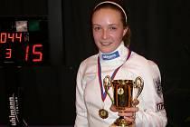 Poprvé zlatá. Své první turnajové vítězství vybojovala o víkendu karlovarská žačka Natálka Ondráčková.