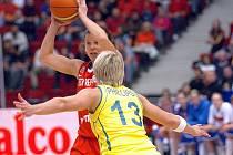 České basketbalistky porazily v pátek večer v KV Areně Australanky 79:68