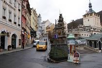 Uzavřený Zámečák. Dopravní omezení v centru lázní začíná ve středu 18. března, definitivně skončí 29. dubna.