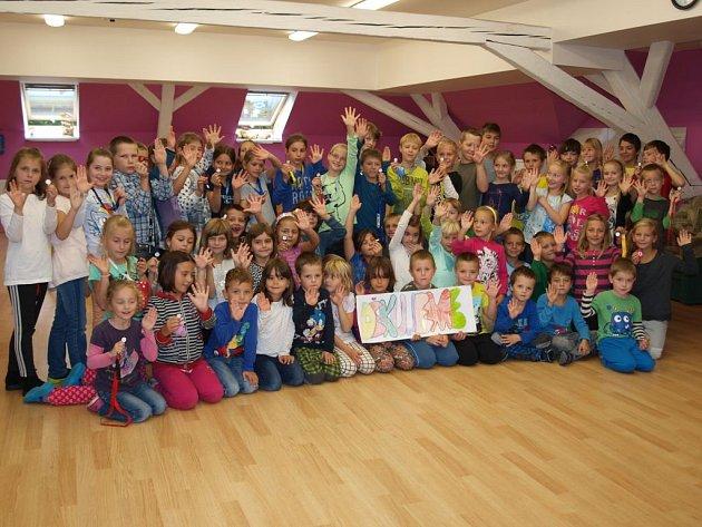 Děti ze sadovské školy.