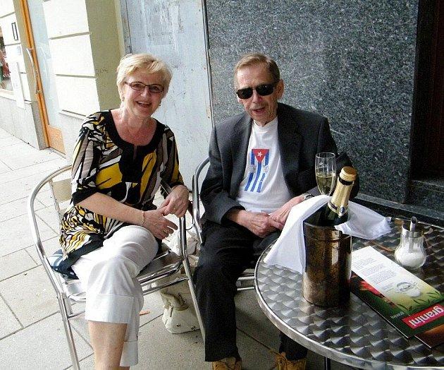 VÁCLAV HAVEL a Michaela Šípková.