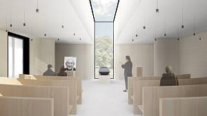 Nové krematorium má nabídnout dvě obřadní síně.