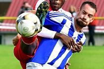 Kontroverzní vystoupení sudího Marka Janocha na dvorském stadionu sledovali fanoušci v souboji Slavie s Domažlicemi.