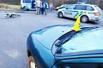 Místo nehody na silnici mezi Novou Rolí a Jimlíkovem.