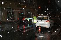 Dopravní nehoda v Karlových Varech.