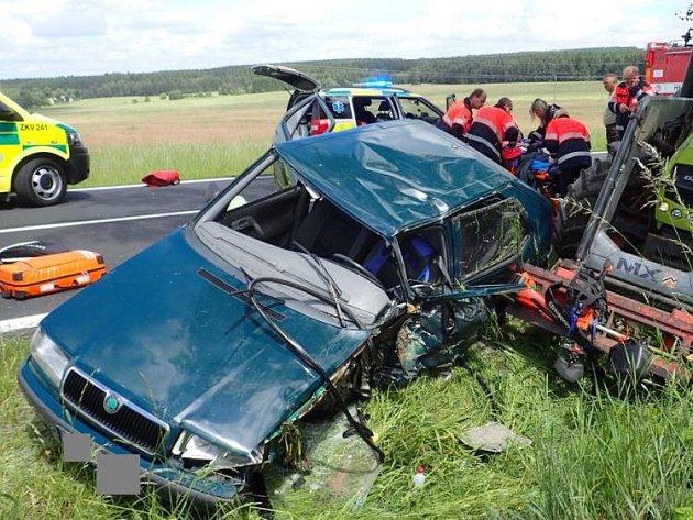 Tragická nehoda u Toužimi.