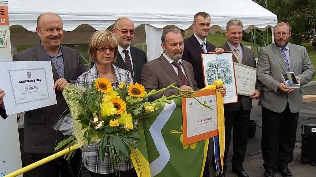 Vyhlášení vítězů soutěže Vesnice roku na Karlovarsku.