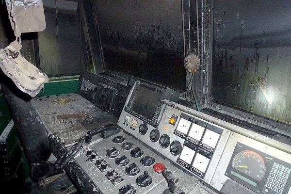Na nádraží vKarlových Varech začala hořet lokomotiva, škoda je 10milionů korun