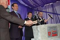 Slavnostní zahájení stavby multifunkční haly dne 1. února 2007.