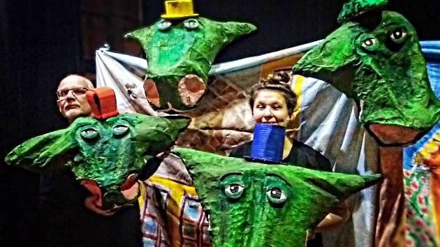 Čtyřhlavý drak v ekologické pohádce pro děti.