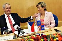 Prezident Miloš Zeman na návštěvě v Karlovarském kraji.
