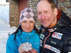 Z mistrovství světa ve švédském Falunu přivezl Lukáš Bauer manželce Kateřině stříbrnou medaili.